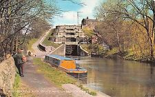 B103924 bingley five rise leeds and liverpool canal ship bateaux    uk