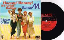 """BONEY M - HOORAY HOORAY IT'S A HOLI-HOLIDAY - 7"""" 45 VINYL RECORD w PICT SLV 1979"""