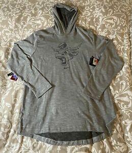 UT Texas Longhorns NIKE Dry Dri-Fit Gray Hoodie Long Sleeve Shirt  Men's 3XL NEW