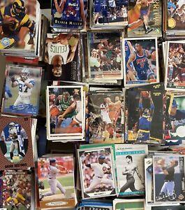 Huge Lot of 3000 Trading Cards MLB NBA NFL Medium Flat Rate Box FREE Shipping