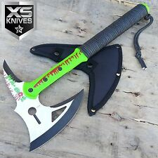 "16"" Zombie Survival Camping Tomahawk Throwing Axe Battle Hatchet Hunting"
