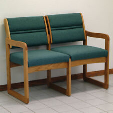Wooden Mallet Valley Two Seat Sofa-Medium Oak- DW2-2MOFG Sofa NEW