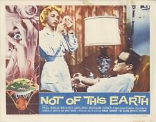 """NOT OF THIS EARTH""-ORIGINAL LOBBY CARD-SCI-FI-CORMAN-BEVERLY GARLAND-PAUL BIRCH"