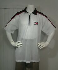 Vintage Tommy Hilfiger Colorblock Flag  Mesh 1/4 Zip Shirt Sz XL  Made In USA