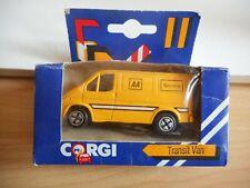 """Corgi Ford Transit """"AA Service"""" in Yellow in Box"""