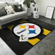 Pittsburgh Steelers Area Rug Fluffy Floor Mat Living Room Bedroom Non-Slip Mat