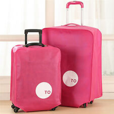 "24"" Non-woven Travel Luggage Suitcase Cover Anti Dust Protective Pouch Fushia HG"