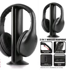 5 in 1 Hi-Fi Wireless Headset Headphone Earphone for TV DVD MP3 PC SPECIAL GIFT