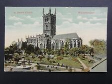 West Midlands WOLVERHAMPTON St. Peter's Church - Old Postcard