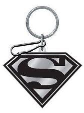 Black And Silver Superman Enamel Key Chain
