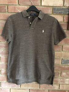 Mens POLO Ralph Lauren Tshirt Brown large