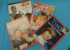 princess diana magazine LOT of 3  2-TIME 1-LIFE 1-CLIPPING from TIME 1981-1997