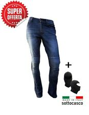 Pantaloni Jeans moto con Kevlar Per Uomo e Donna protezioni CE Pro Future Blue
