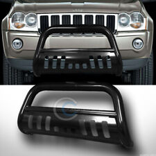 Fits 08-10 Jeep Grand Cherokee Blk Bull Bar Brush Push Bumper Grill Grille Guard