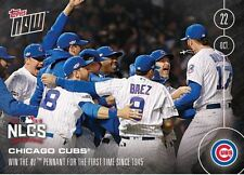 2016 Topps Now 615A Chicago Cubs NLCS Pennant World Series Limited Print 2447