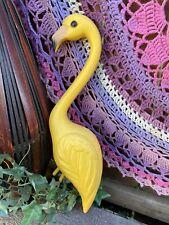 Flamingo Midcentury Inspired Yellow Plastic Yard