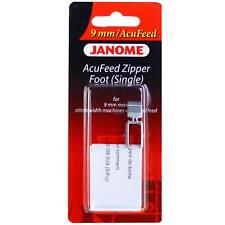 New listing Genuine Janome Acufeed Zipper Foot (Single) for 9mm Machines Part# 202128007