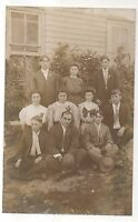 RPPC Group of Young People Posing, Vintage Real Photo Postcard