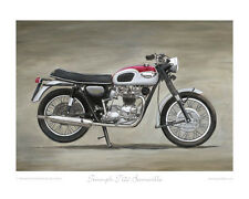 "Triumph T120 Bonneville (1968) - Limited Edition Art Print (of 50 only) 20""x16"""