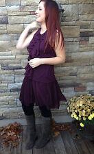 Ralph Lauren Sport Womens Burgundy Ruffled Cotton Skirt Size Large
