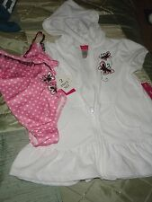 ONE PIECE BATHING SUIT W/MATCHING COVERALL W/HOODIE SZ 3 TODDLER SELLS $38.00
