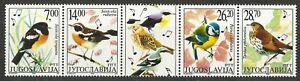 YUGOSLAVIA 2002 SONGBIRDS STRIP MINT
