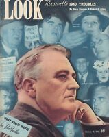 Look January 16 1940 Franklin D Roosevelt Joseph Stalin Drew Pearson 010219DBE