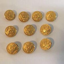 New Lot of 10 U.S Waterbury Dress Uniform Buttons Men's Jacket Coat Front Gold