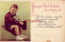 May You Third Birthday Be A Happy One. Beloved, Bless ye the Lord - Psalm 134:1