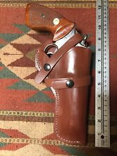 "Ruger GP100 4.2"" Barrel & Smith & Wesson 586 686 4"" Brown Leather Field Holster"