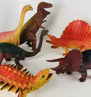 VTG Dor Mei Large Dinosaur Lot of 6 Tyrannosaurus Rex Triceratops HONG KONG