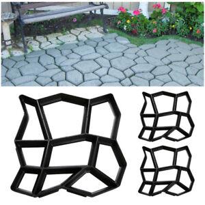 Pflasterform Trittsteine 3x Terrassenplatten DIY Garten Schalungsform