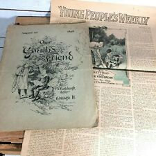 Our Youth's Friend Magazine August 1898 and Young People's Weekly October 1915