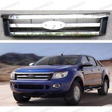 1Pcs New Front Grille Chrome For Ford Ranger T6 2012-2014