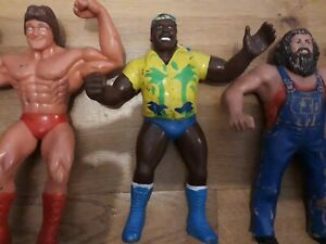 LJN WWF Wrestling Figures Bundle Rare Vintage Large