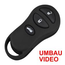CH3GE Ersatz-Gehäuse+Video für 3-Tasten Chrysler/Jeep Fernbedienung+Batterieclip
