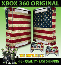 XBOX 360 USA AMERICA FLAG STARS STRIPES CONSOLE STICKER SKIN NEW & 2 PAD SKINS