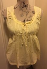 GORGEOUS AUTHENTIC WISH DESIGNER WOMENS TOP SIZE 12 YELLOW
