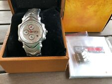 Oakley GMT Watch Stainless Steel/White Dial  (Torpedo, Bullet, Gauge etc. Rare)