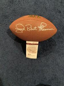 Joseph Robert Theismann Signed Football JSA With Full Name Joe Redskins