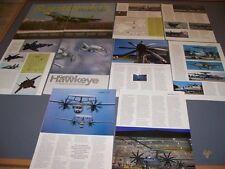 VINTAGE..SUKHOI T-50 & E-2D HAWKEYE HISTORY..PHOTOS/HISTORY..RARE! (697L)
