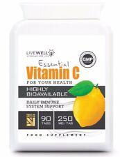 Vitamin C - 90 HIGH STRENGTH Vegan Tablets   Immune System Support   UK capsules