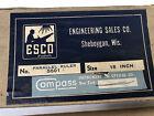 """Vintage ESCO Parallel Ruler for Navigation 15"""" Original Box"""