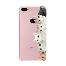 For Iphone 5 5S SE Six Cat Pattern Ultra Thin Soft Rubber Back Phone Case Cover