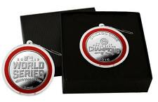 Chicago Cubs 2016 World Series Champions Logo Silver Plated Coin Ornament