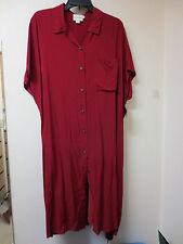 NEW Pure DKNY Rayon Short Dress, Tunic with Underslip, Ember Dark RED, L, XL