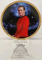 1991 25th Anniversary Hamilton Star Trek Collectors Plate Scotty Limited Edition