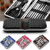 18 Pcs Stainless Steel Manicure Set Pedicure Kit Nail Care Women Men Gift