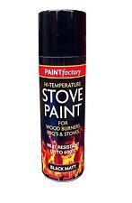400ML Ultra High Heat Proof Matt Black Aerosol Spray Paint Stove BBQ & Engine