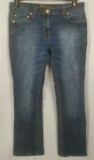 Mix It Bootcut Stretch Jeans Size 10 Petite Cotton Blend Dark Wash